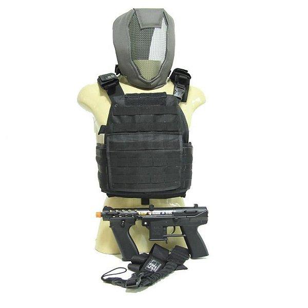 KIT SOLDIER - GAT ECHO1 + COLETE .50 + BANDOLEIRA + MÁSCARA FULL FACE