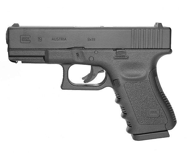 Pistola de Pressão CO2 Glock  G19 Oficial Umarex  - 4,5mm