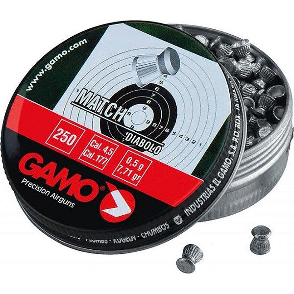 CHUMBINHO GAMO MATCH DIABOLO 4,5MM (250UN)