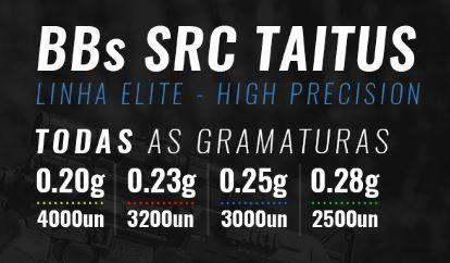 Combo com 10 BBs SRC Taitus Brancas (0.20, 0.25 ou 0.28)