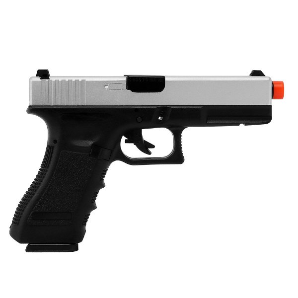 PISTOLA AIRSOFT GBB GREEN GÁS GLOCK R17-S BLOWBACK - SILVER - ARMY ARMAMENT