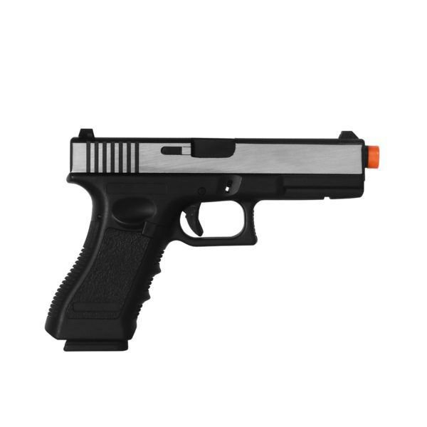 PISTOLA AIRSOFT GBB GLOCK G17 721L - BLOWBACK + CASE + MAGAZINE EXTRA - DOUBLE BELL