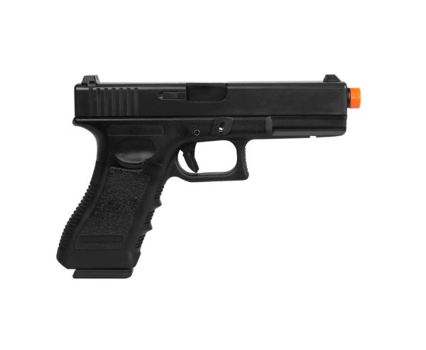 PISTOLA AIRSOFT GBB GLOCK G17 766 - BLOWBACK + CASE + MAGAZINE EXTRA - DOUBLE BELL