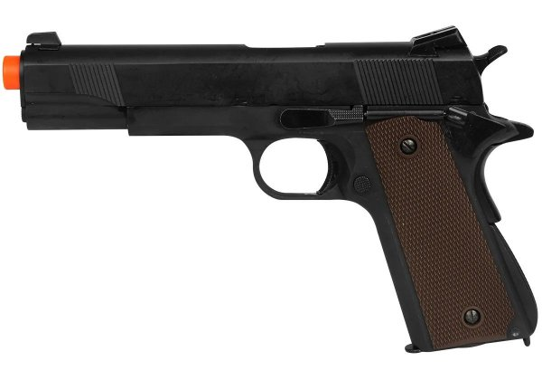 PISTOLA AIRSOFT GBB COLT 1911 783 BLOWBACK FULL METAL + CASE EXCLUSIVA + MAGAZINE EXTRA - DOUBLE BELL