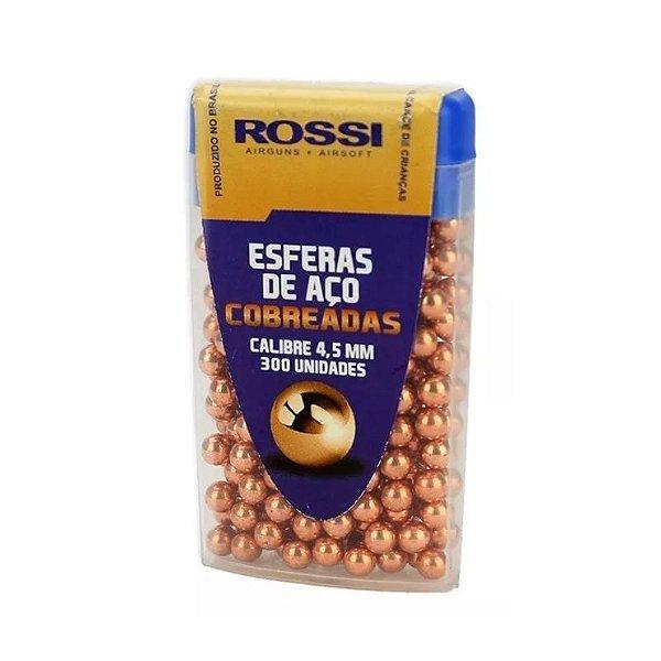 ESFERAS DE AÇO COBREADA ROSSI 4,5MM (300UN)