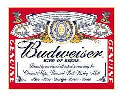 Placa Metálica Decorativa Budweiser