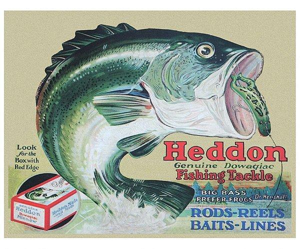 Placa Metálica Decorativa Heddon
