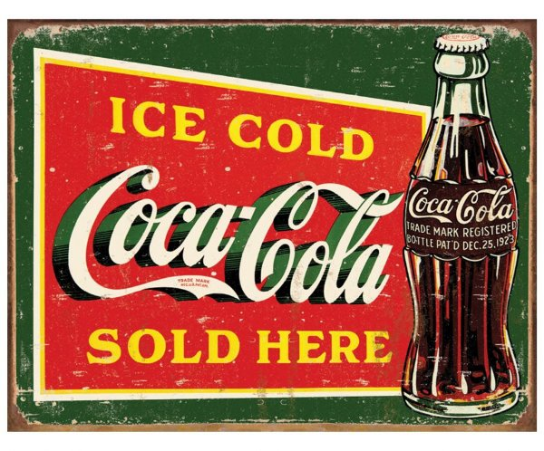 Placa Metálica Decorativa Ice Cold Coke 1