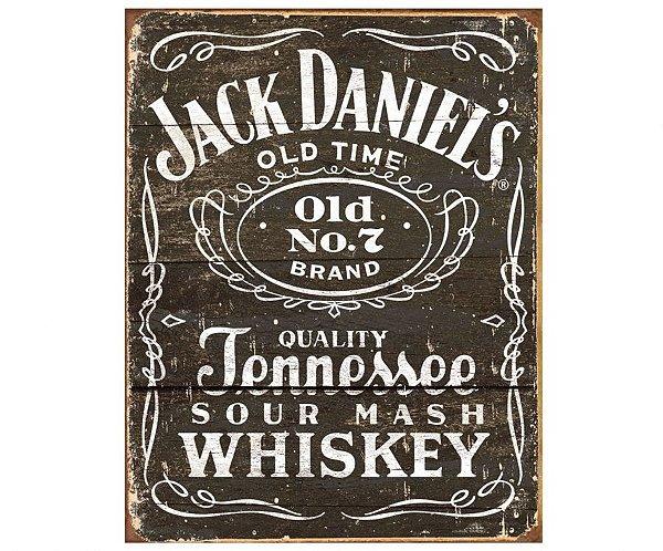 Placa Metálica Decorativa Jack Danniels