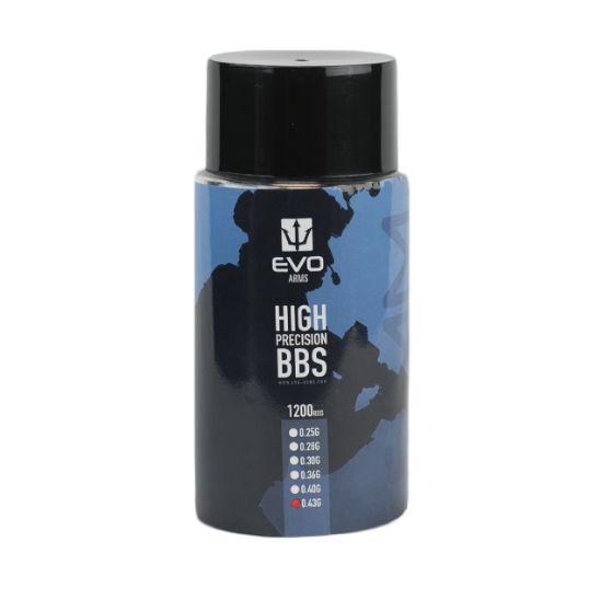 BBs EVO 0.36g - Pote com 1200 bolinhas Brancas
