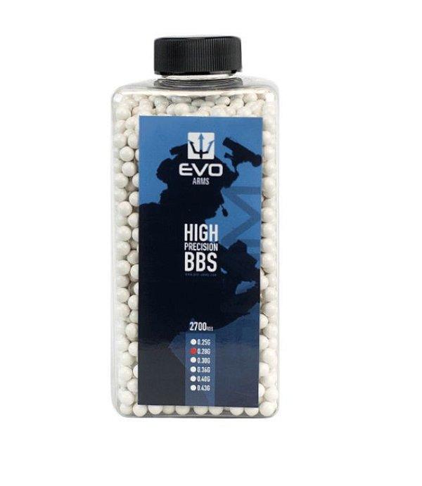BBs EVO 0.28g - Pote com 2700 bolinhas Brancas