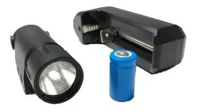 Lanterna para pistola 1w com carregador de bateria 130 lúmens