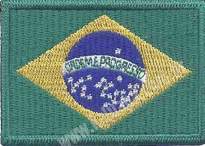 PATCH BORDADO BANDEIRA DO BRASIL - KALUAPA