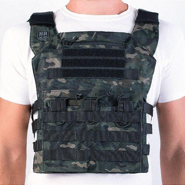 COLETE MODULAR COURAÇA PLATE CARRIER - BR FORCE - MULTICAM BLACK