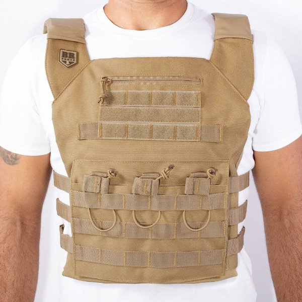 COLETE MODULAR COURAÇA PLATE CARRIER - BR FORCE - COYOTE