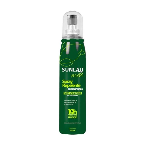 REPELENTE MAX SPRAY - SUNLAU - 100 ML