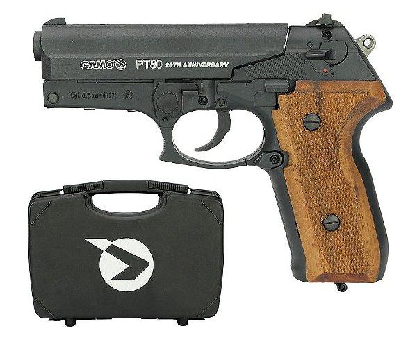 Pistola de Pressão  CO2 PT-80 20TH Anniversary Gamo + Maleta - 4,5mm