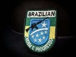 PATCH BORDADO MILITAR BRAZILIAN - PONTO MILITAR