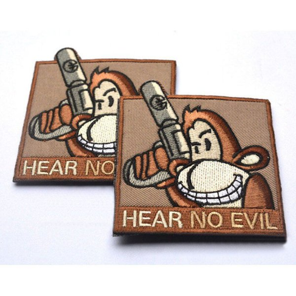 PATCH BORDADO HEAR NO EVIL - PONTO MILITAR