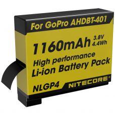 Bateria lítio p/ gopro 4 ahdbt401 - Nitecore