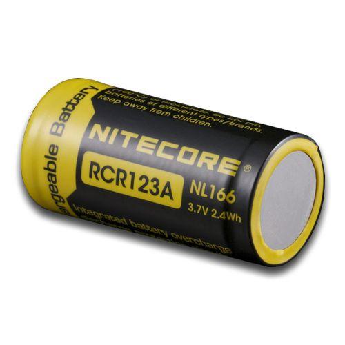 BATERIA RECARREGÁVEL RCR 123A 3.7v 650mAh - NITECORE