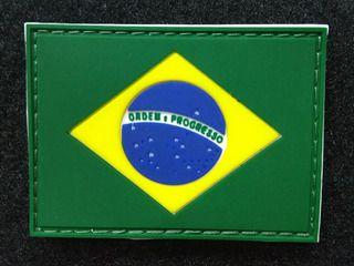 PATCH BANDEIRA DO BRASIL EMBORRACHADA C/VELCRO COLORIDA