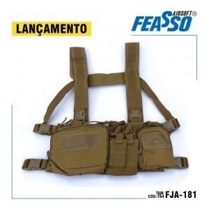 Colete chest rig orion fja-181 tan - Feasso