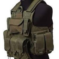 Colete tático militar - AVB - Verde