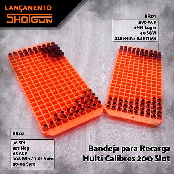 Bandeja de Recarga  BR01Com 200 Slots  - .380 ACP 9mm Luger  .40 SGW .223 REM / 5.56 Nato