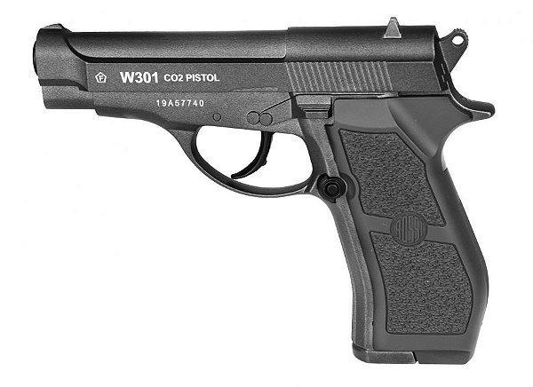 Pistola de Pressão W301 FULL METAL CO2 Wingun - 4,5mm