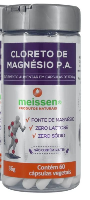 Cloreto De Magnésio P.a. Meissen 60 Cápsulas