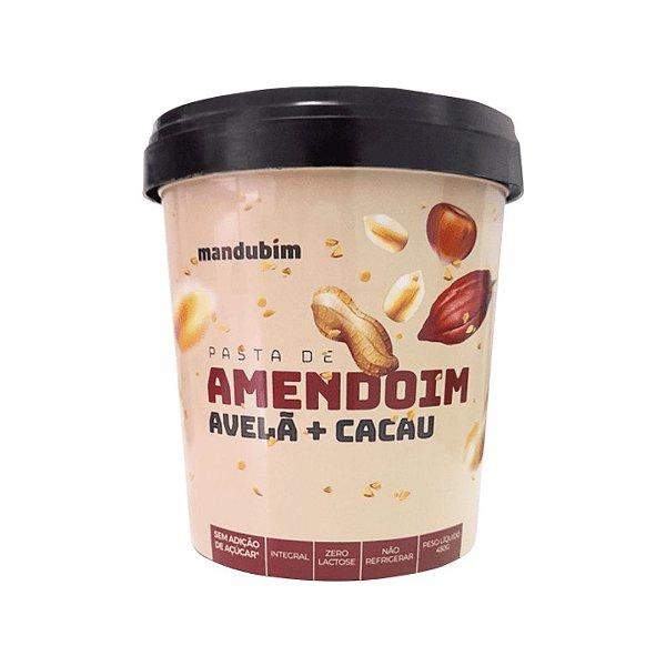 Pasta De Amendoim Integral Com Avelã E Cacau Mandubim 450g