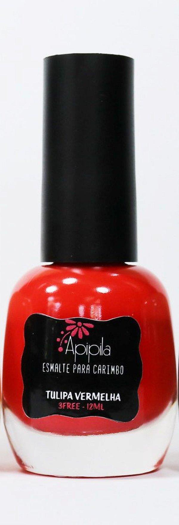 Esmalte Carimbo Apipila - Tulipa Vermelha