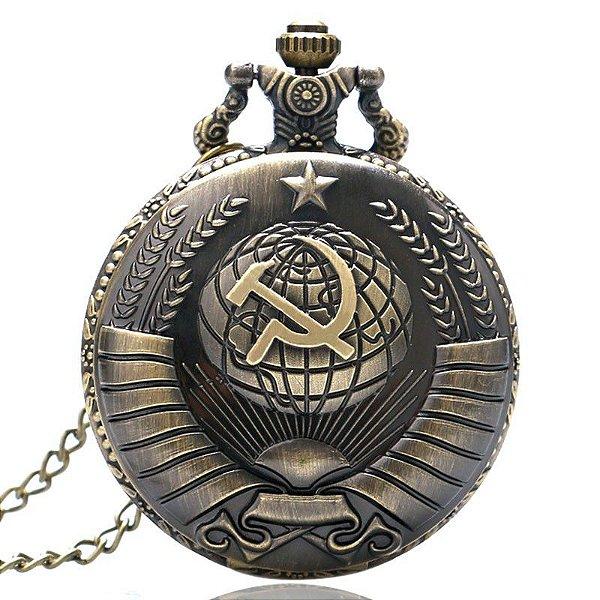 Relógio de Bolso Foice Martelo Soviética - Yisuya