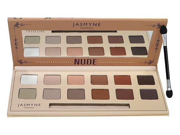 Paleta de Sombras Nude Matte A Tons Claros Jasmyne