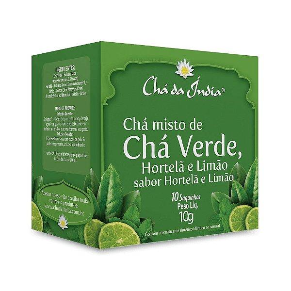 Chá Verde, Hortelã e Limão - Chá da Índia – 10 Sachês