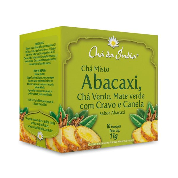 Chá Misto de Abacaxi  - Chá da Índia – 10 Sachês