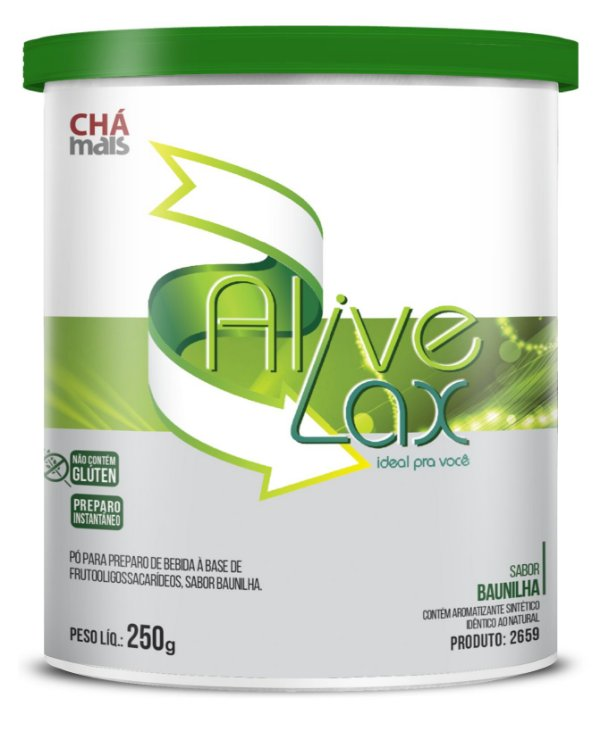Alive Lax Solúvel, sabor Baunilha - CháMais - 250g