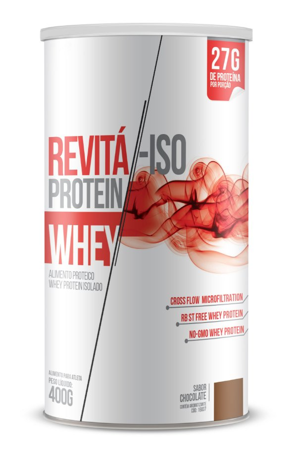 Whey Revita Iso Protein sabor Chocolate - CháMais - 400g