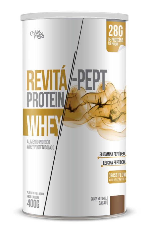 Whey Revita Pept Protein sabor Cacau - CháMais - 400g