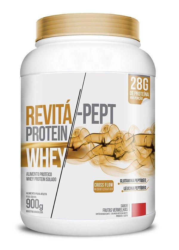 Whey Revita Pept Protein sabor Frutas Vermelhas - CháMais - 900g