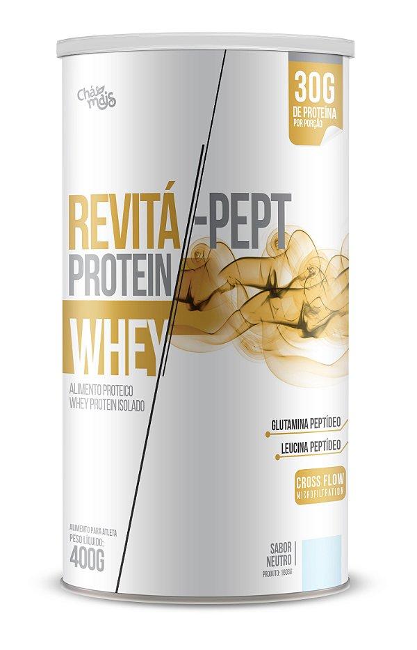 Whey Revita Pept Protein sabor Neutro - CháMais - 400g