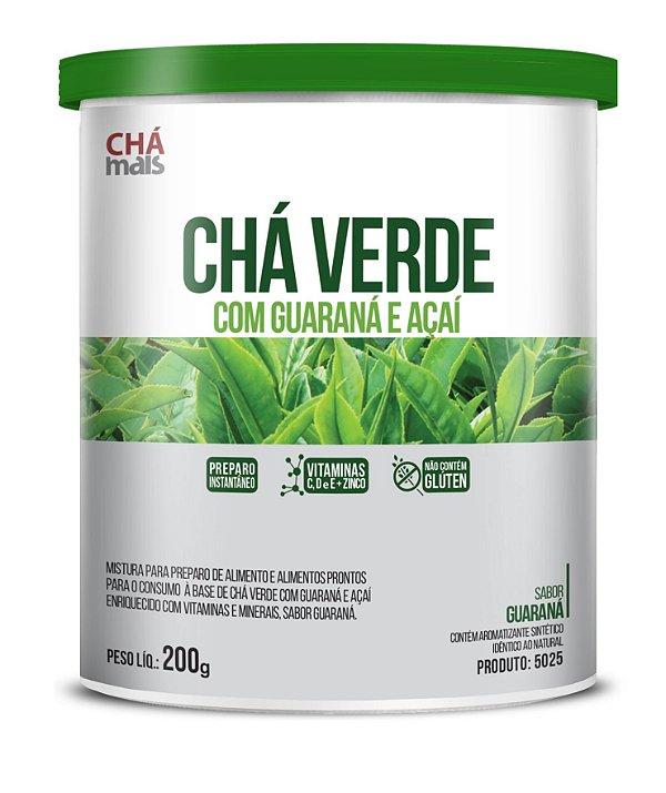 Chá Verde com Guaraná e Açaí sabor Guaraná Solúvel - CháMais - 200g