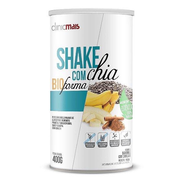 Shake com Chia BioForma, sabor Banana com Canela - ClinicMais - 400g