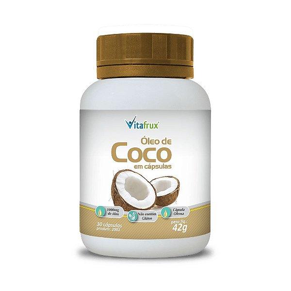 Óleo de Coco em cápsulas - Vitafrux - 30 caps