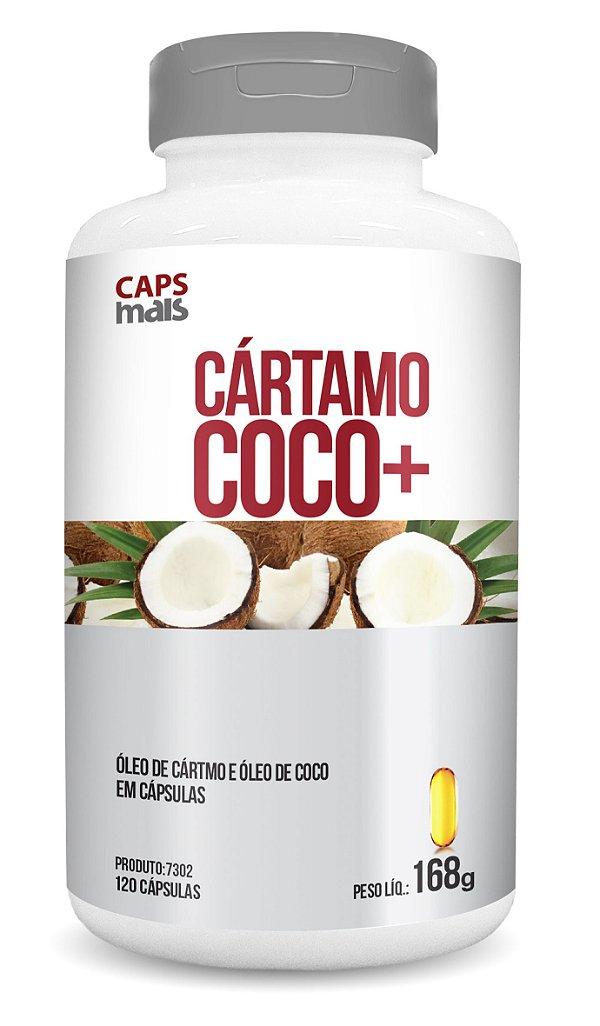 Cártamo+Coco - Óleo de Cártamo e Óleo de Coco em cápsulas - CháMais - 120 caps