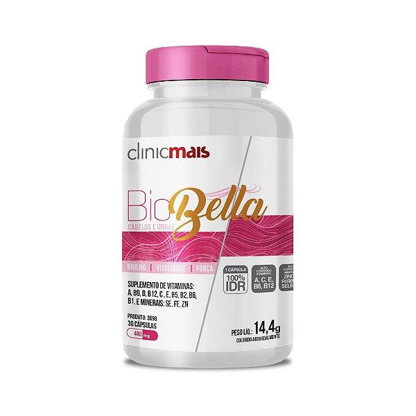 BioBella Cabelos e Unhas - Suplemento de Vitaminas e Minerais - 30 caps - 14,4g - ClinicMais