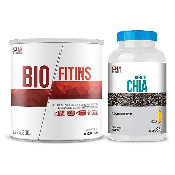 Combo - Solúvel Bio Fitins e Óleo de Chia em cápsulas