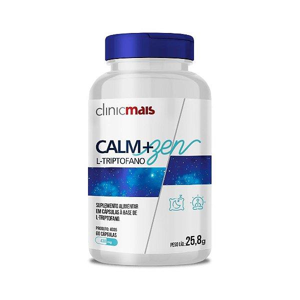 Calm+Zen L-triptofano em cápsulas - 60 caps - 25,8g - ClinicMais
