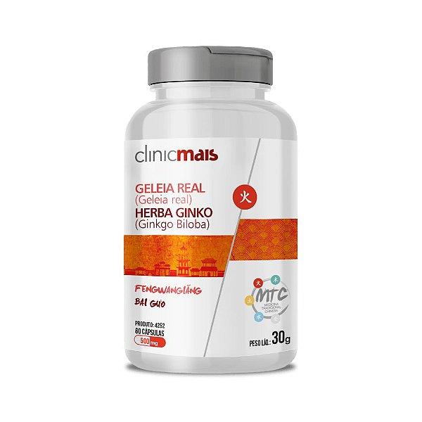 Geléia Real + Herba Ginko - Ginkgo biloba - Bai Guo - ClinicMais